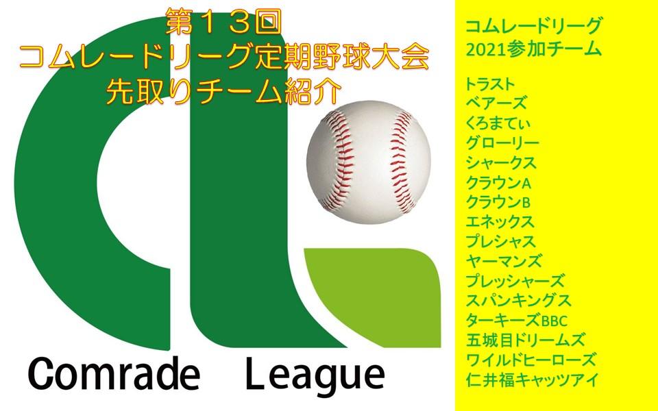 コムレードリーグ2021 先取りチーム紹介